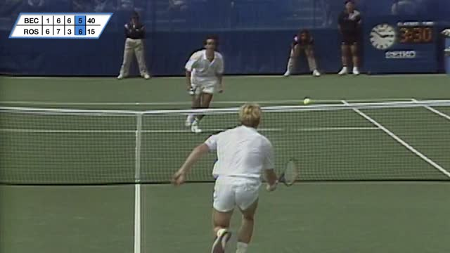 Thumbnail image of US Open Unmatched: Boris Becker vs. Derrick Rostagno