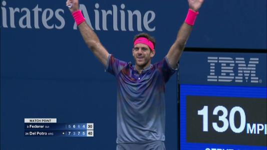play video Cognitive Highlight: Juan Martin del Potro - Quarterfinal