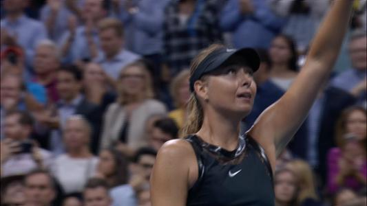 play video Halep vs. Sharapova