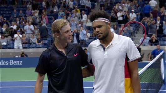 play video Shapovalov vs. Tsonga