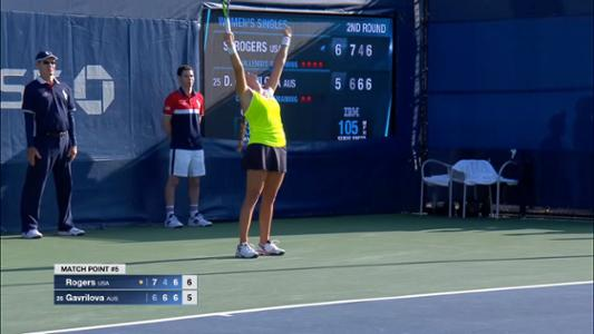 play video Gavrilova vs. Rogers