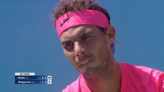 play video Nadal vs. Dolgopolov