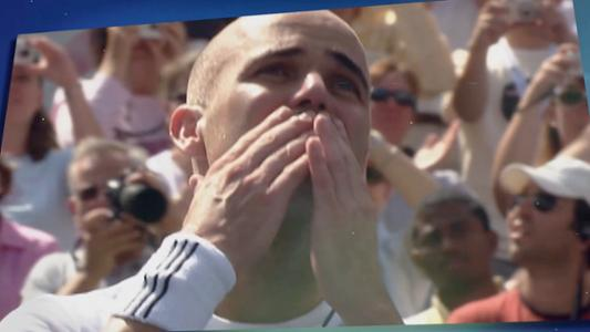 play video 50 Moments That Mattered: Agassi makes emotional farewell