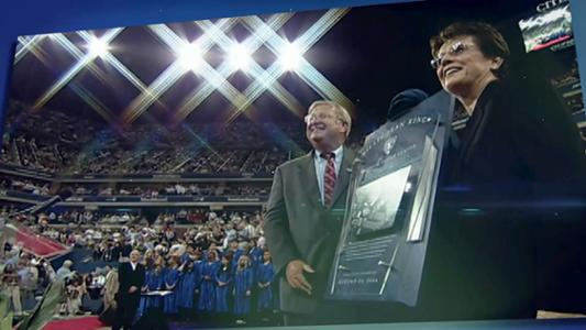 Thumbnail image of 50 Moments: Tennis Center renamed for Billie Jean King